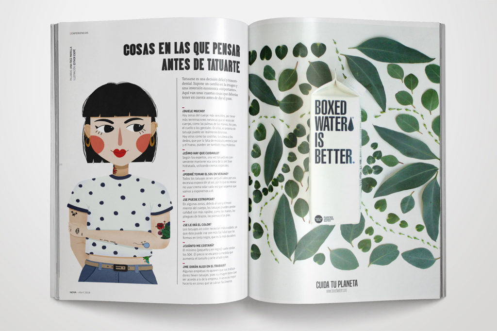 Revista Nova de Esther Sepúlveda. Máster Diseño Editorial.